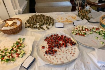 Traditional snacks at the Embassy of Cyprus in Washington, DC.