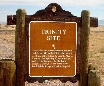 Trinity Site Historical Marker - Photo via Wikipedia