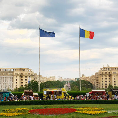 View from the Palace of the Parliament in Bucharest