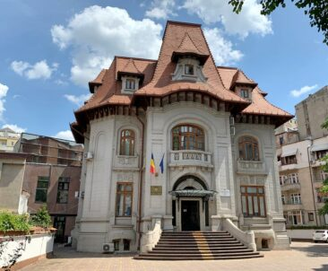 National House of Public Pensions in Bucharest, Romania