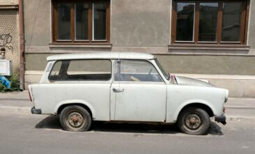 Old car in Bucharest