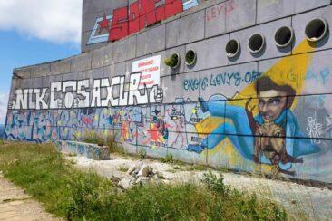 Graffiti on the Buzludzha Monument