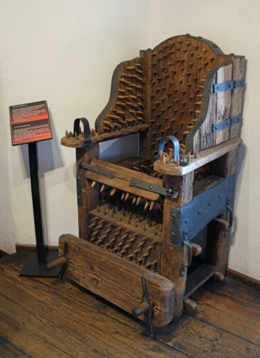 The Interrogation Seat in Bran Castle, Romania