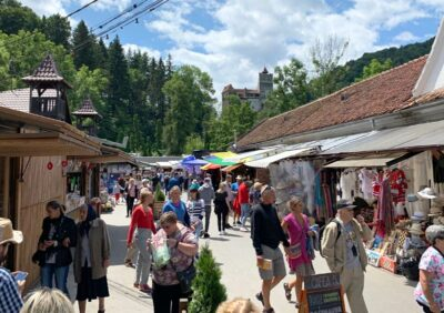 Shops at the base of Bran Castle