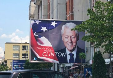 Bill Clinton billboard in Kosovo