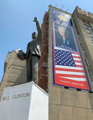 Bill Clinton Monument in Kosovo