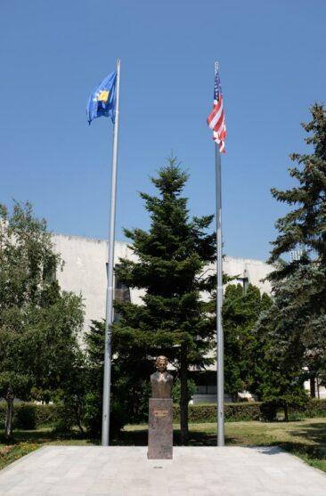 Madeleine Albright statue in Kosovo