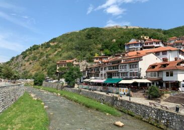 Prizren Fortress in the distance