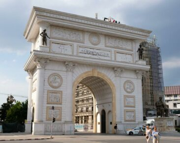 Porta Macedonia Arch in Skopje