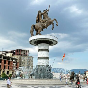Alexander (or The Warrior on a Horse) in Macedonia Square in Skopje