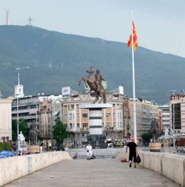 Macedonia Square in Skopje