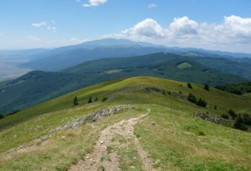 The view from Buzludzha in Bulgaria