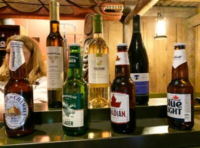 Ice wine and beer at the Epcot Canada pavilion at Disney's Epcot