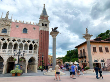 The Italy pavilion at Disney's Epcot