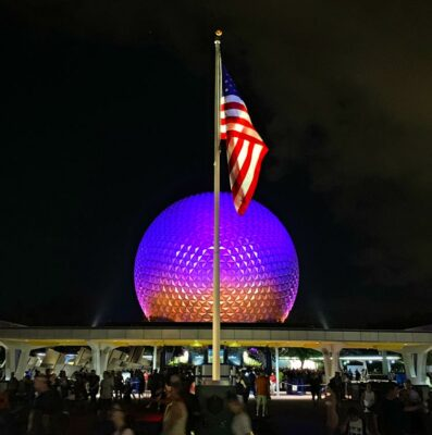 Good night from Epcot