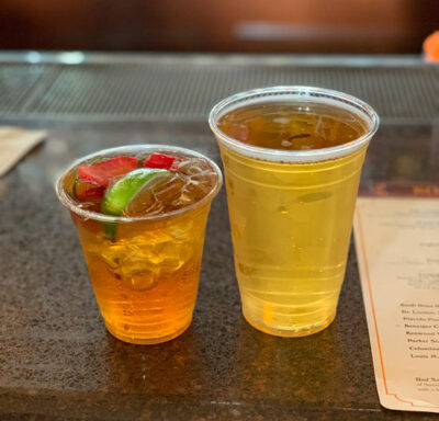 Pimm's Cup in the Epcot UK Pavilion! Adam's favorite