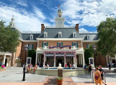 The American pavilion at Disney's Epcot
