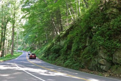 Roads inside Great Smoky Mountains National Park