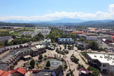 View from Great Smoky Mountain Wheel in Pigeon Forge
