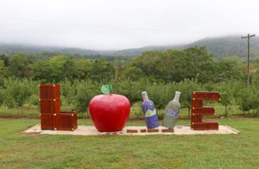 The Love Sign outside Peaks of Otter Winery