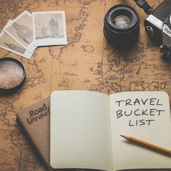 A Bucket List of Travel Related Items and Places to Visit