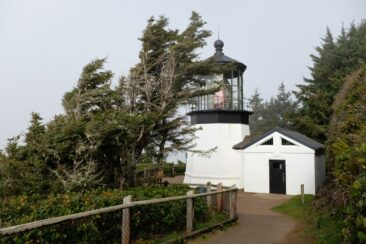 Cape Meares Lighthouse along the Oregon coast