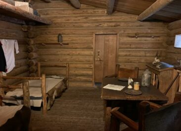 Room interior at Fort Clatsop