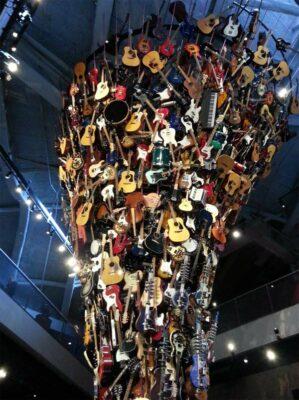 Guitar sculpture in the Museum of Pop Culture in Seattle - Image via Wikipedia