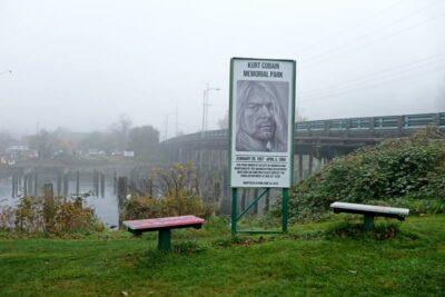 Kurt Cobain Memorial Park in Aberdeen, Washington