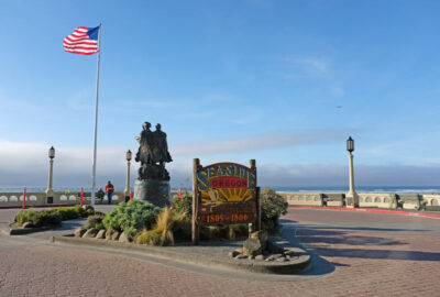 Lewis and Clark Monument in Seaside, Oregon