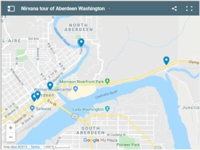 Nirvana-related locations in Aberdeen, Washington