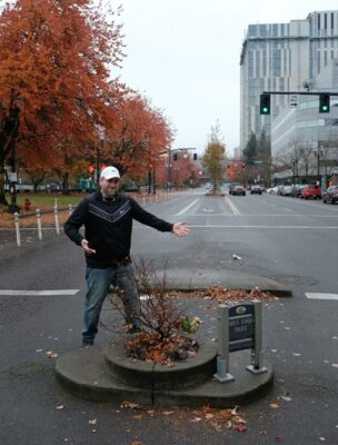 Mill Ends Park in downtown Portland