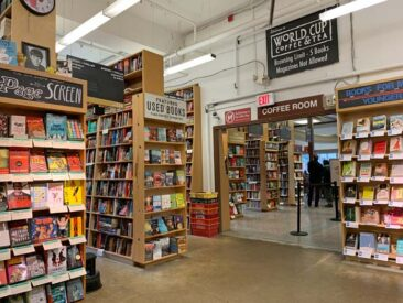 Interior of Powell's Books in Portland, Oregon