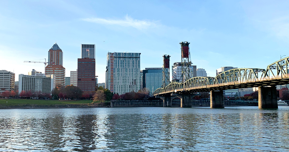 The Portland Skyline from the Holman Dock