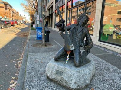 The Jimi Hendrix Statue in Seattle, Washington