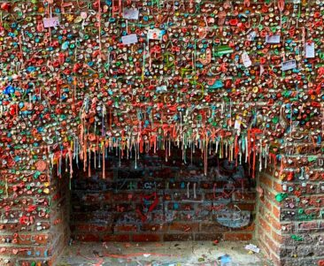 The Gum Wall in Pike Place Market