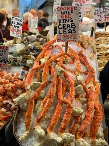 Seafood in Pike Place Market, Seattle Washington
