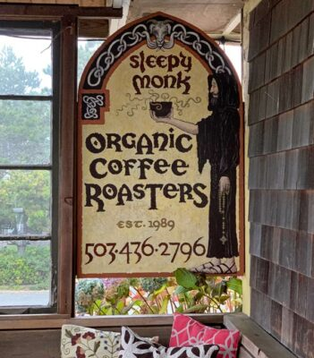 Sleepy Monk Coffee Roasters in Cannon Beach, Oregon