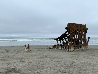 The Wreck of the Peter Iredale near Astoria, Oregon