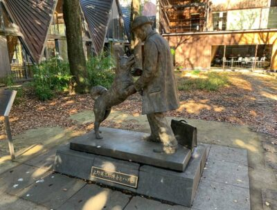 Hachiko statue on the Tokyo University campus