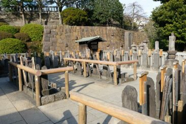 Graves of the Forty Seven Ronin in Sengakuji Temple