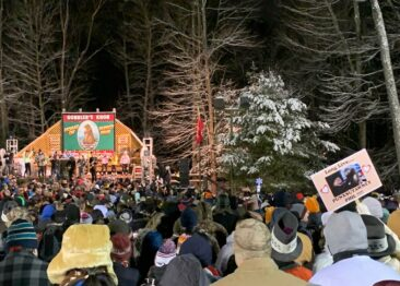 Gobbler's Knob on Groundhog Day