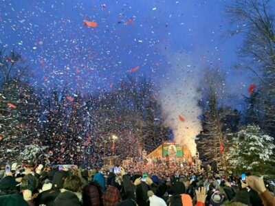Groundhog Day confetti at Gobbler's Knob in Punxsutawney