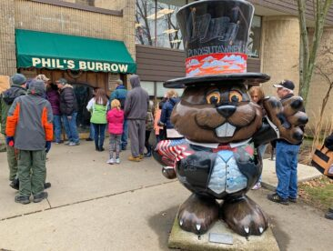 Phil's Burrow - his home in Punxsutawney