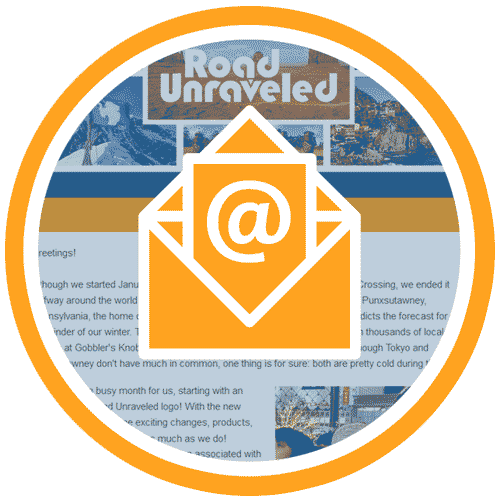Road Unraveled Monthly Newsletter