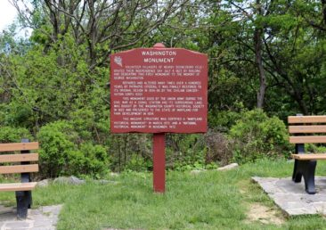 Sign at Washington Monument State Park in Maryland