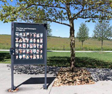 Victims of Flight 93 at the National Memorial in Shanksville, Pennsylvania