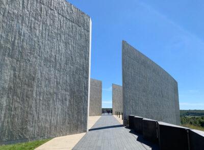 Entrance to the Flight 93 Memorial Visitors Center in Shanksville, Pennsylvania