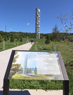 Tower of Voices at the Flight 93 Memorial in Shanksville, Pennsylvania