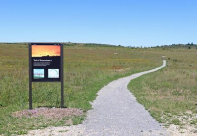 Trail of Remembrance at the Flight 93 Memorial in Shanksville, Pennsylvania